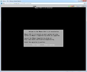 ESXi Installer Welcome Screen