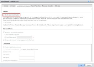 Guest OS Customization